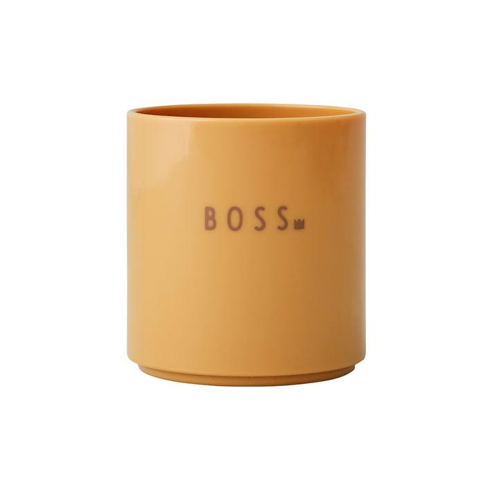 The AJ Mini Favourite Tritan cup from Design Letters , Boss / mustard