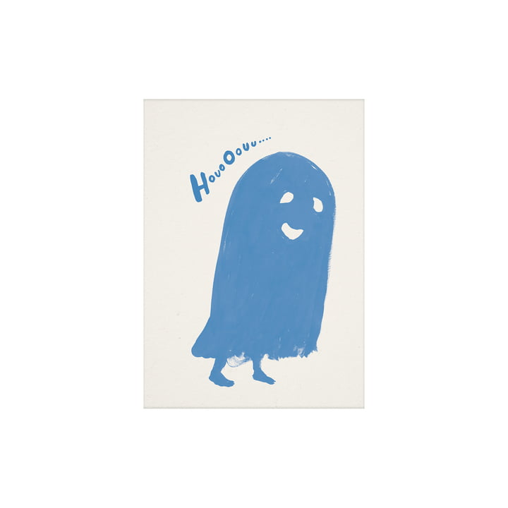 HouoOouu Poster 30 x 40 cm from Paper Collective in blue