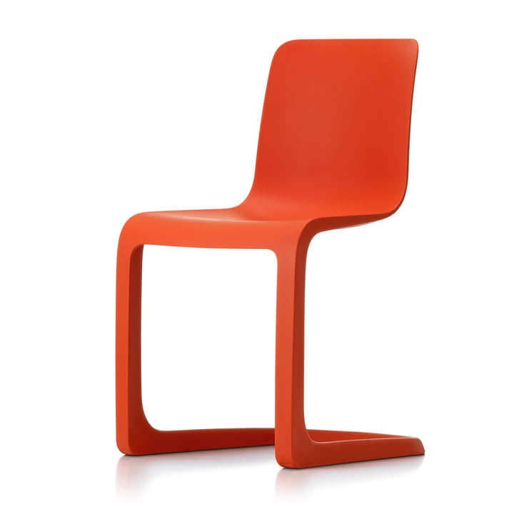 EVO-C All-plastic chair, poppy red by Vitra