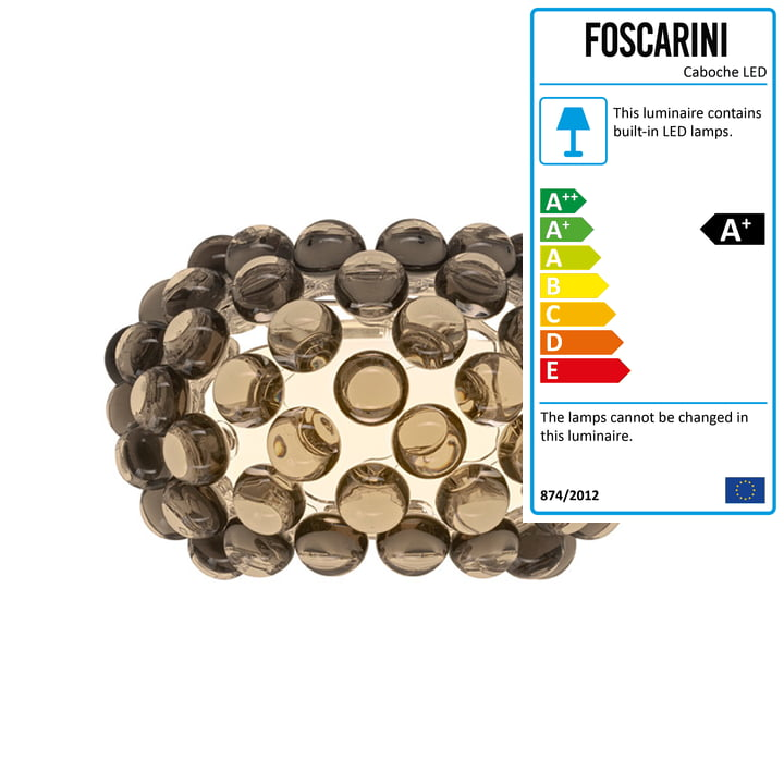 Caboche Plus piccola LED wall lamp from Foscarini in grey