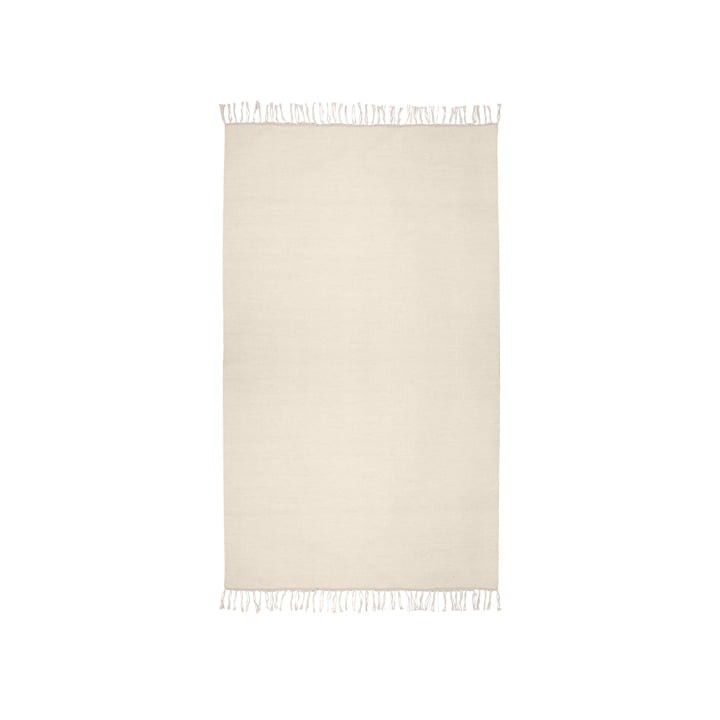 The Kelim carpet from Connox Collection , 90 x 160 cm, offwhite