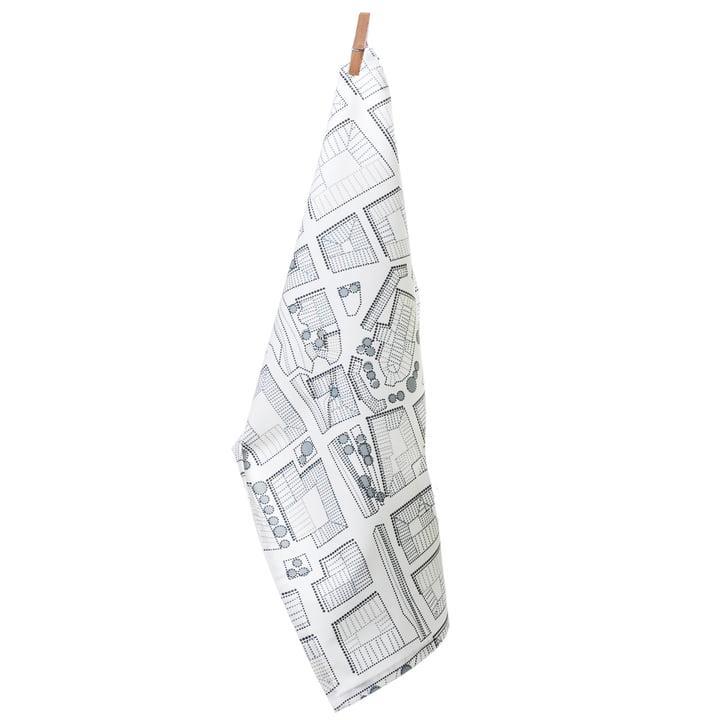 Tea towel, City grey by Born in Sweden