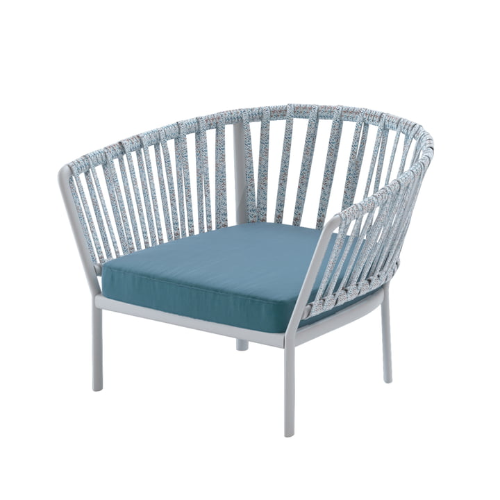 The Ria armchair from Fast, gray / colorful / dark blue