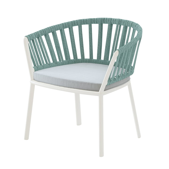 Ria Lounge chair, cream white / mint green / light green from Fast