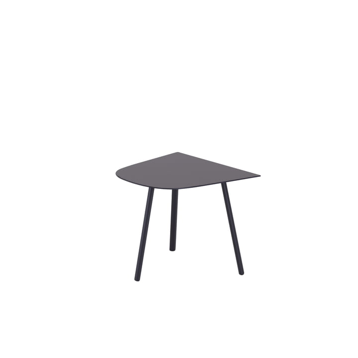 Mosaiko Side table, half-oval, 50 x 56 cm, dark grey from Fast