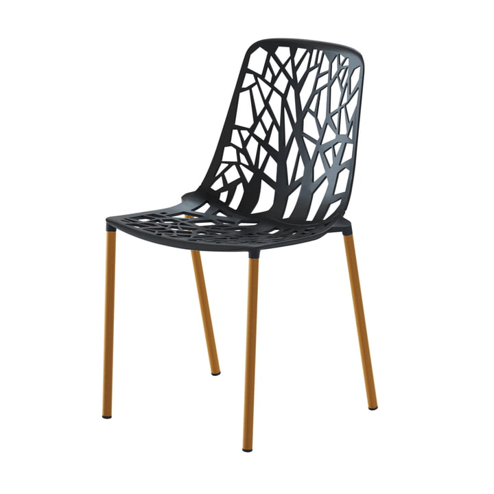 Forest stacking chair wooden frame ( Outdoor ), black from Fast