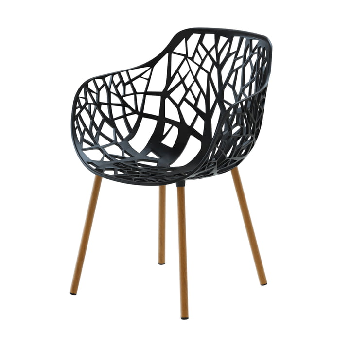 Forest armchair wooden frame (outdoor), black by Fast