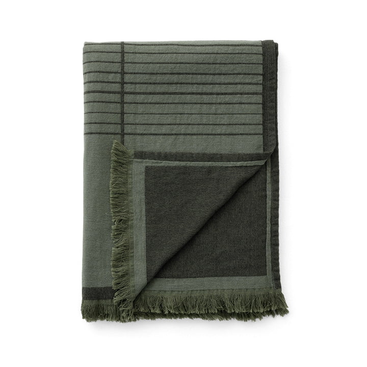 The Untitled AP10 bedspread from & Tradition, 150 x 210 cm, dark green