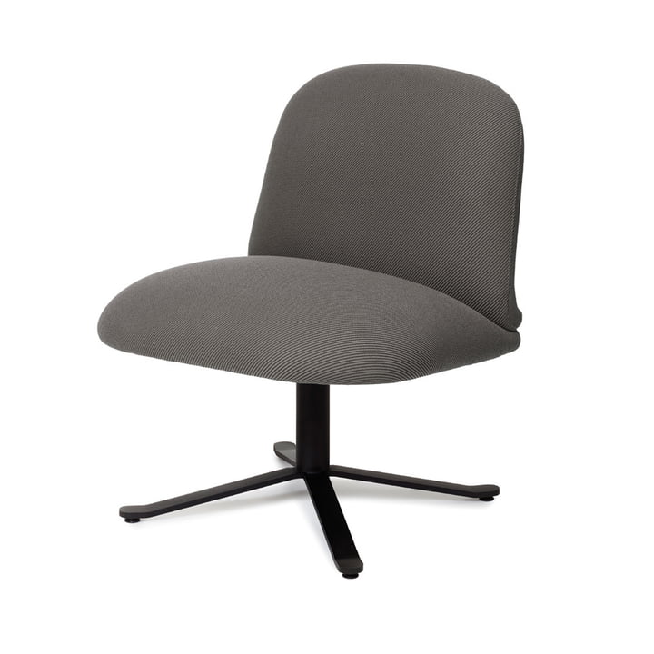Optum Lounge chair, graphite black (RAL 9011) / dark grey (Camira Oceanic OOC08) from Puik