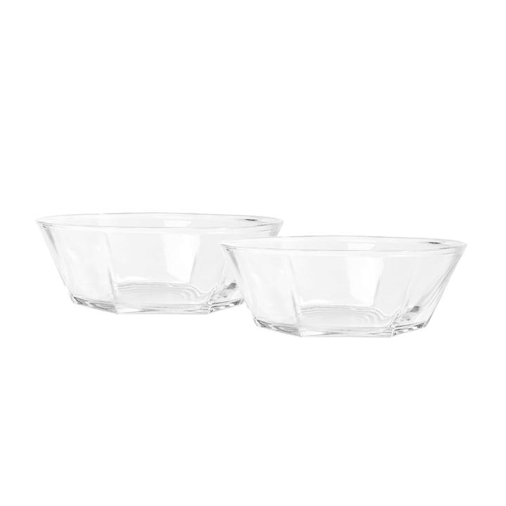 Lucent Bowl set of 2, transparent from Puik