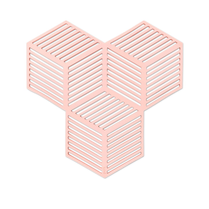 Sico Coasters (set of 4), pink from Puik