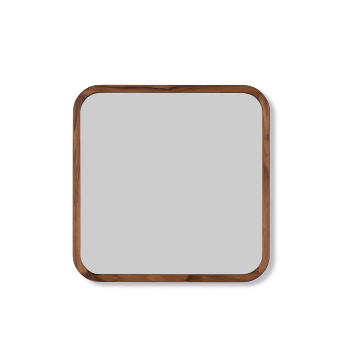 Silhouette Mirror 70 x 70 cm from Fredericia in walnut oiled