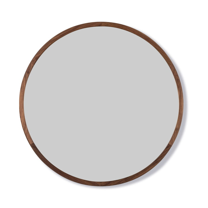 Silhouette Mirror Ø 100 cm from Fredericia in walnut oiled