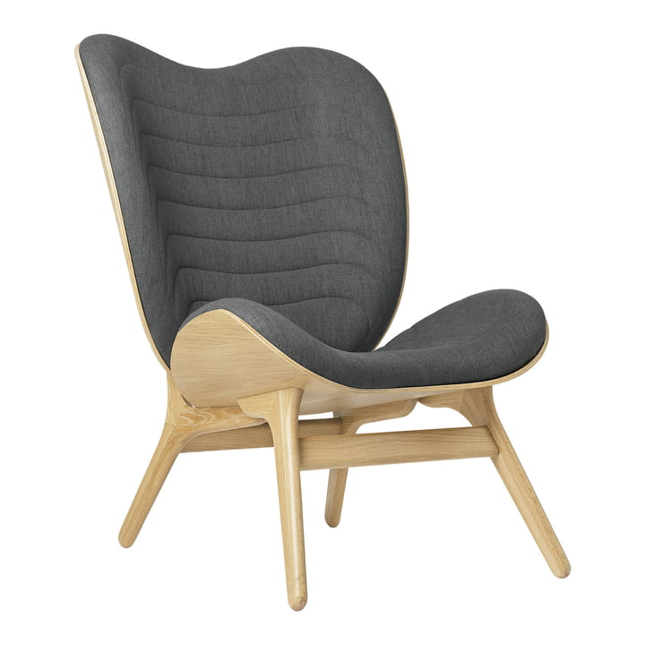 The A Conversation Piece Tall armchair from Umage , oak / slate grey ( kingston )