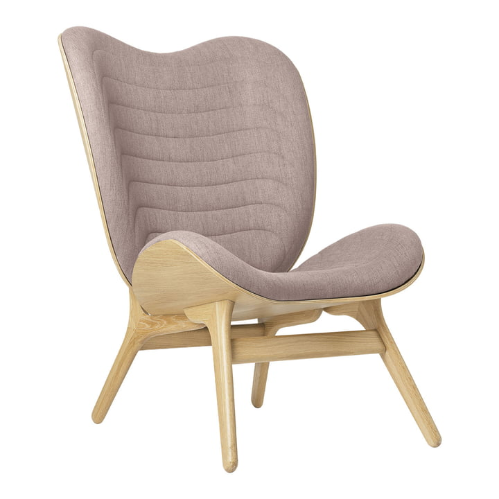 The A Conversation Piece Tall armchair from Umage , oak / dusty rose ( kingston )