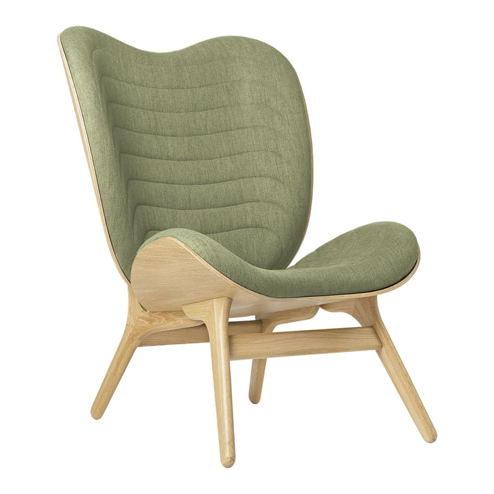 The A Conversation Piece Tall armchair from Umage , oak / spring green ( kingston )