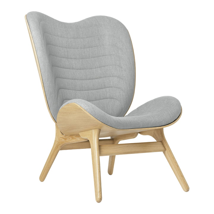 The A Conversation Piece Tall armchair from Umage , oak / silver grey ( kingston )