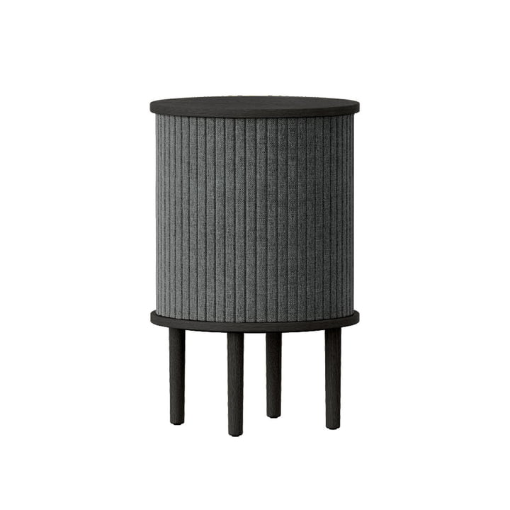 The Audacious side table with USB connection from Umage , Ø 38 x H 5 9. 3 cm, oak black / slate grey