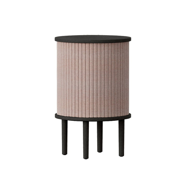 The Audacious side table with USB connection from Umage , Ø 38 x H 5 9. 3 cm, oak black / dusty rose