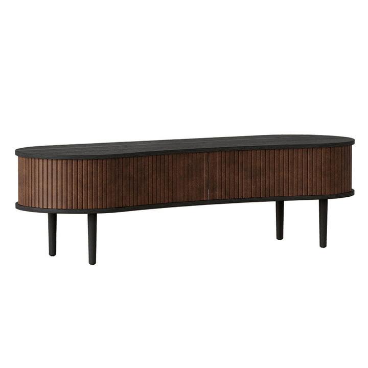 The Audacious TV bench from Umage , oak black / hazelnut