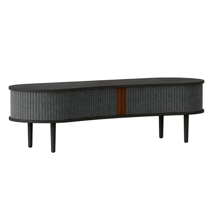 The Audacious TV bench from Umage , oak black / slate grey