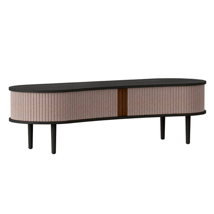 The Audacious TV bench from Umage , oak black / dusty rose