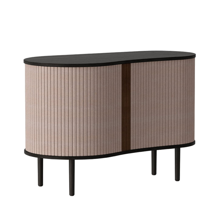The Audacious chest of drawers from Umage , oak black / dusty rose