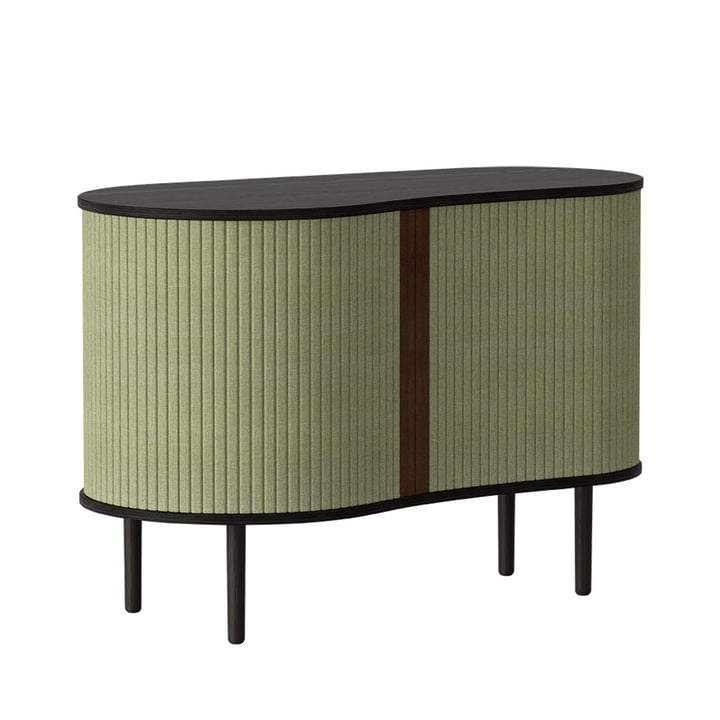 The Audacious chest of drawers from Umage , oak black / spring green