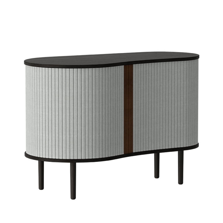 The Audacious chest of drawers from Umage , oak black / silver grey