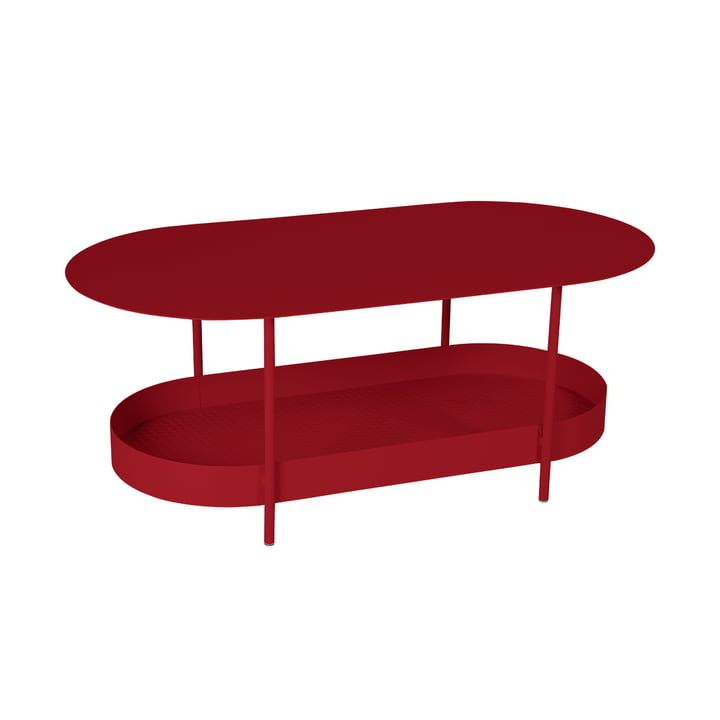 The Salsa low table from Fermob, chilli