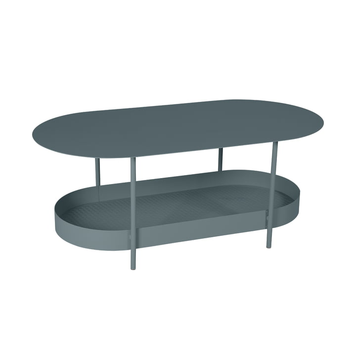 The Salsa low table by Fermob, thunder grey