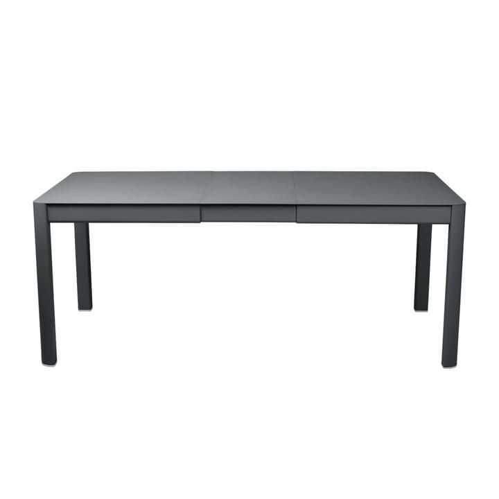 The Ribambelle extendable garden table by Fermob, 100 x 149 / 191 cm thunder grey