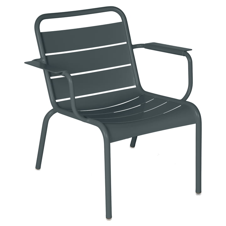 The Luxembourg lounge chair from Fermob, thunder grey