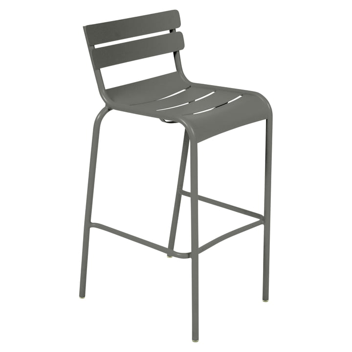 The Luxembourg Bar stool Stackable by Fermob, H 78 cm, rosemary