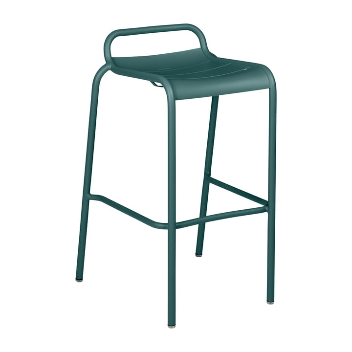 The Luxembourg Bar stool Stackable by Fermob, H 78 cm, thunder grey