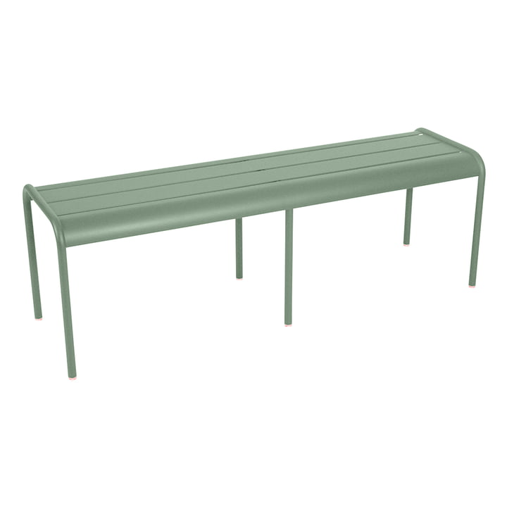 The Luxembourg 3 / 4 person bench without backrest by Fermob, cactus