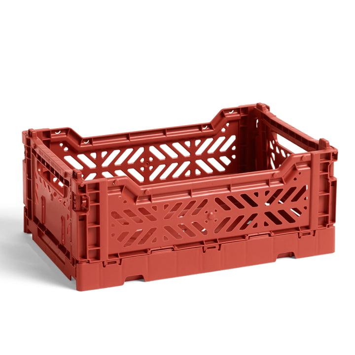 Hay - Colour Crate basket S, 26.5 x 17 cm, terracotta