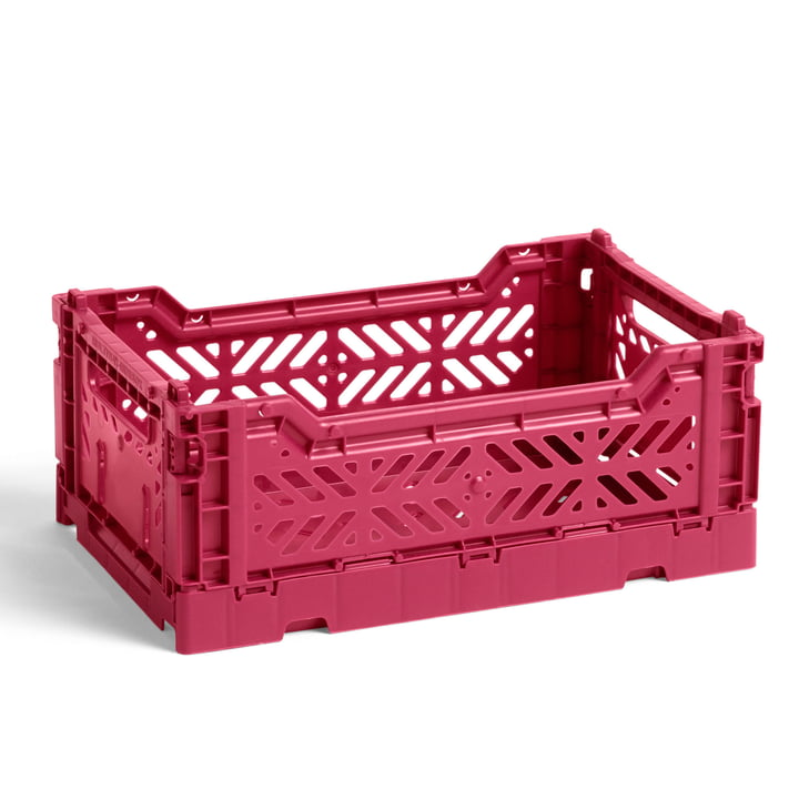 The Colour Crate basket S from Hay , 26.5 x 17 cm, plum