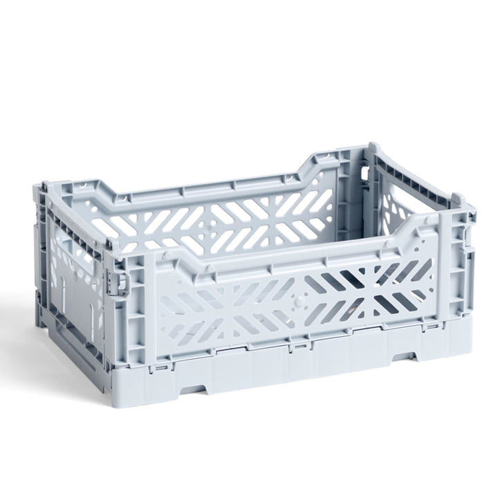 The Colour Crate basket S from Hay , 26,5 x 17 cm, ice blue