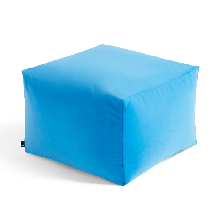 The Varer Pouf of Hay , limited edition #1, bright blue
