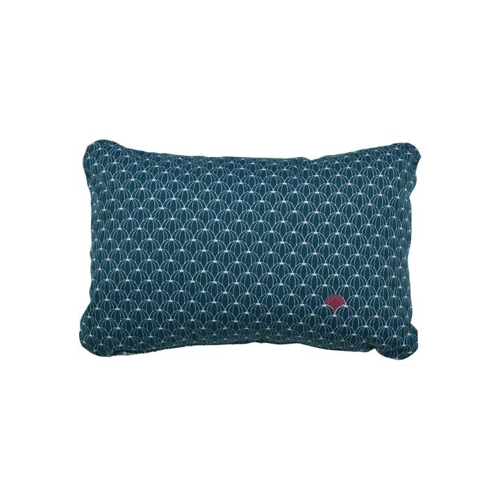 Fermob - Pasteque Outdoor cushion, 30 x 44 cm, petrol blue