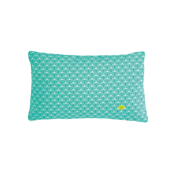 The Pasteque Outdoor cushion by Fermob, 30 x 44 cm, turquoise blue