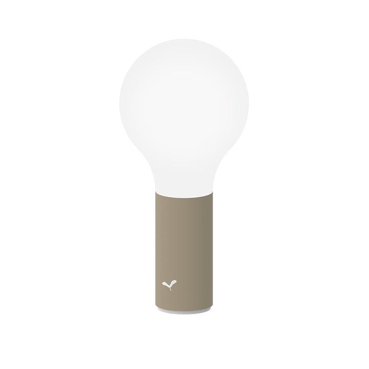 The Aplô outdoor lamp by Fermob, h 24 cm, nutmeg