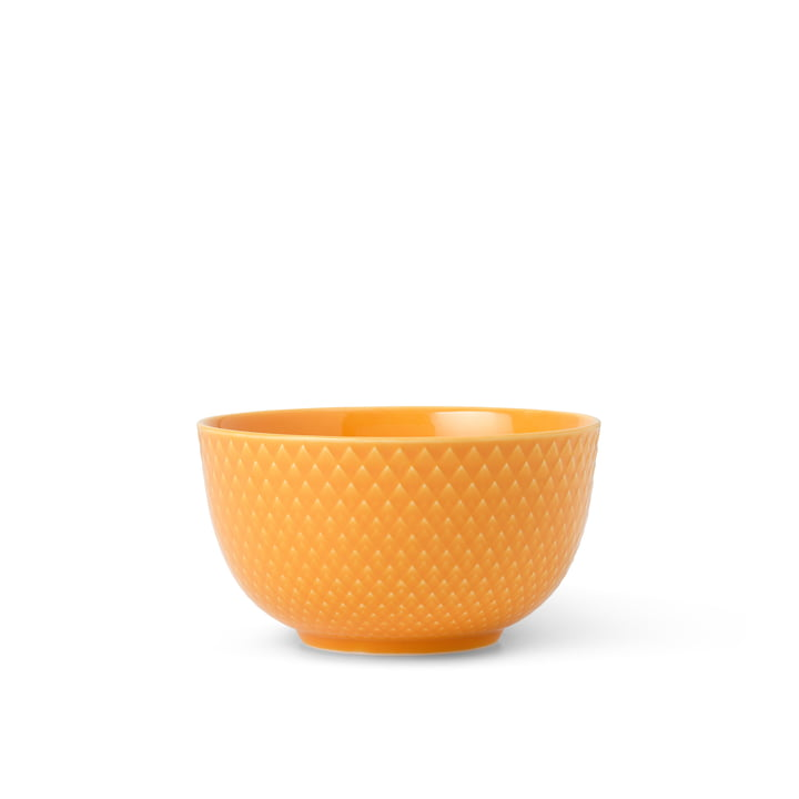 The Rhombe bowl from Lyngby Porcelæn , Ø 11 cm, yellow