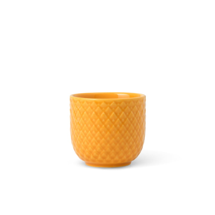The Rhombe egg cup from Lyngby Porcelæn , yellow