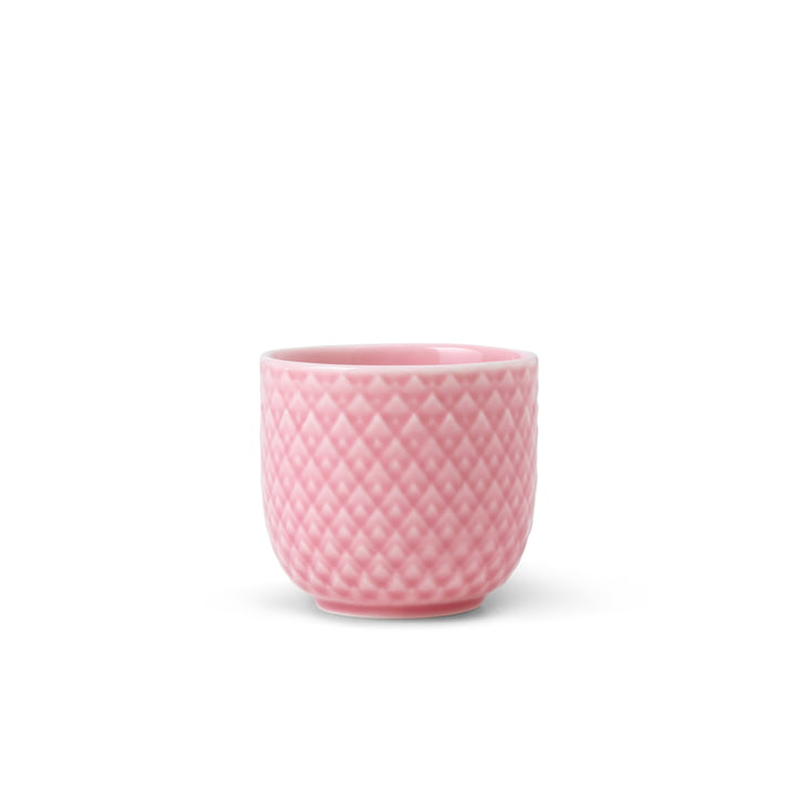 The Rhombe egg cup from Lyngby Porcelæn , pink
