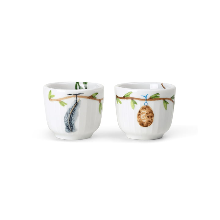 The Hammershøi egg cup (set of 2) from Kähler Design , white, hand-painted