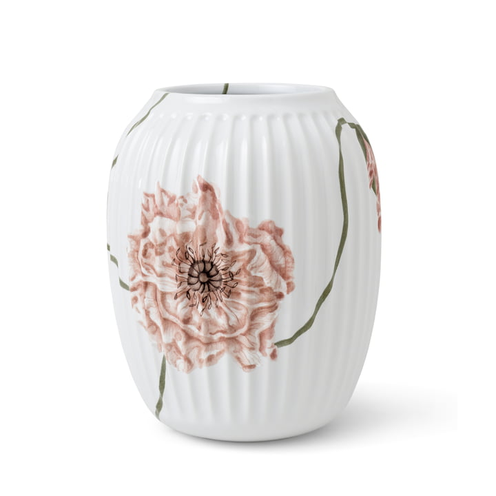 The Hammershøi Poppy Vase from Kähler Design , H 21 cm, white