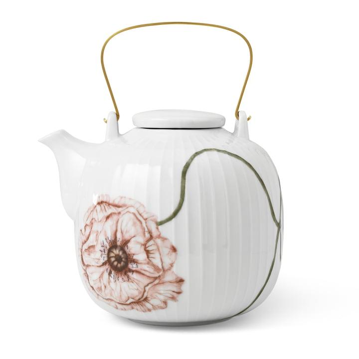 The Hammershøi Poppy Teapot from Kähler Design , 1,2 l, white