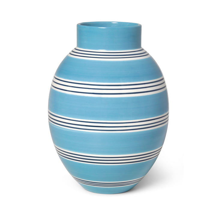 The Omaggio Vase from Kähler Design , H 30 cm, medium blue